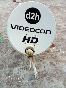 Dish anteena D2H + Videocon set top box working condition @550/-