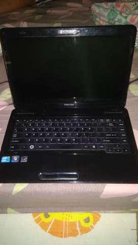 Laptop Toshiba L640 core i3 Ram 4 GB HDD 500 GB Baterai 70-100 menit