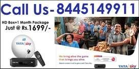 Book Now! Tata Sky HD- Airtel Dish TV Dishtv Videocon- Tatasky DTH D2H