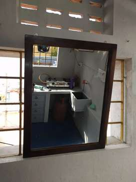 NEW MIRROR With OIL KONGU wood frame.