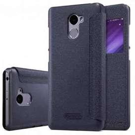 AyooDropship - Nillkin Sparkle Window Case for Xiaomi Redmi 4 - Black