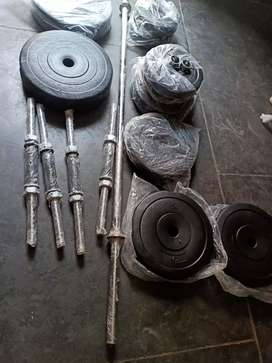 Gym set of 50 kg with 5 rods in wholesale price