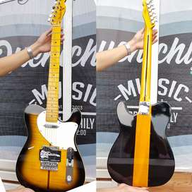 Gitar elektrik maple fender flame new