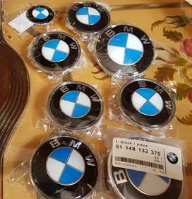 Bmw logo 82mm 74mm 68mm brand new hood trunk wheel cap hubs
