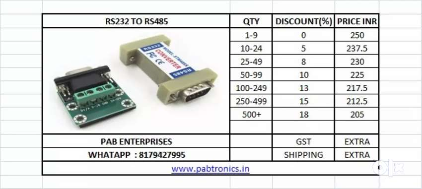 RS232 TO RS485 CONVERTER 0