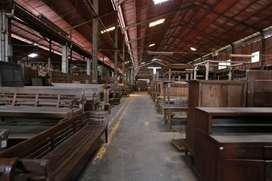 Gudang besar ex workshop furniture