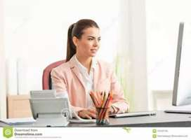 urgent hiring of Receptionist(Male/Female)No target/No charges paid