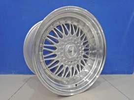 Jual Velg Racing Tipe RS Ring 17 Lebar 85/10 Silver Promo Free Ongkir