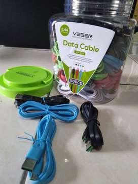 grosiran kabel data/ charger veger usb micro/iphone 5/type c toplesan