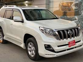 Toyota Land Cruiser Prado Txl 2015 Beige Room 7 Seat Sunroof 4.5