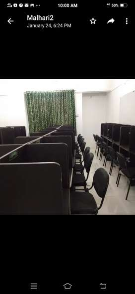 60 cushion chairs with Individual Box Tables for Sale.