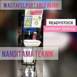 Wastafel tnpa sentuh tangan (wastafel portable, injak)