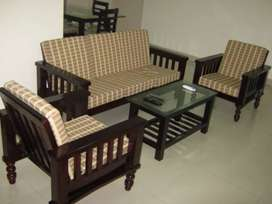 Wooden sofa set for sales