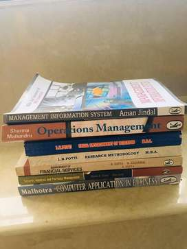 MBA books untouched and unused