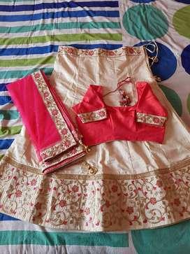Chanya Choli of pink and cream colour