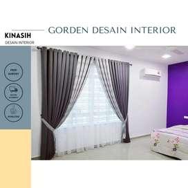 DIJUAL Gordyn Gorden Hordeng Curtain Bisa Custom A909