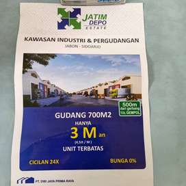 Tanah Gudang/Pabrik Jatim Depo Estate
