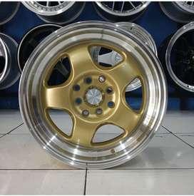 Velg Mobil Brio Agya Avanza dll Ring 16 HSR BRISKET GOLD H4X100-114,3