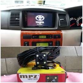 double Din TV for Toyota Altis plus kamera atret