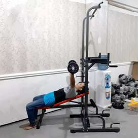 Alat fitnes pul up multi stasion bench press