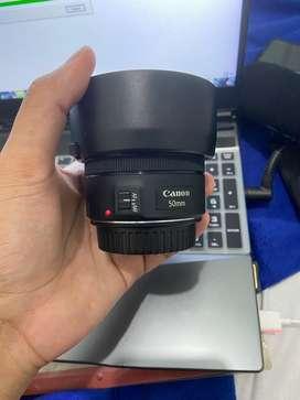 Lensa Canon 50mm Free Lens Hood & uv&Nd filter