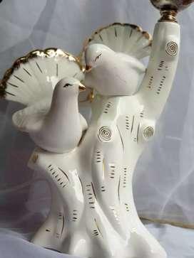 Lampu Meja Narkas Dimmable Sepasang Merpati Putih