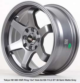 velg Mobil Toyota-Agya-Yaris-Model-Baru-TOKYO HSR R15X7 H8X100-