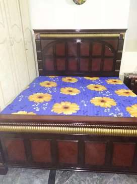 Bed Set. Deco bed  dressing table show case two tables