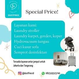 Cuci Laundry Stroller Carseat Free Pickup ke Rumah Jakarta Tangerang