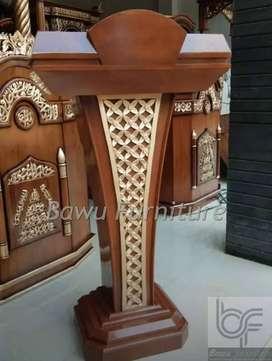 Mimbar Minimalis Masjid Podium Presiden Jati