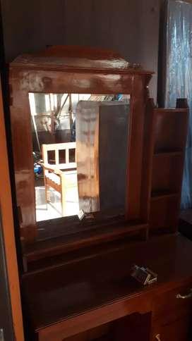 meja rias kaca kayu jati