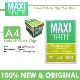 AGEN Kertas Hvs A4 & F4 Sinar Dunia Maxi Brite Paperone dll