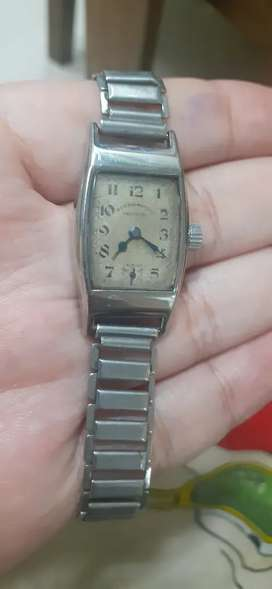 1930s small size rectangle winding watch small seconds