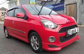 DP. 8 JT , Ayla X elegant 2016 manual merah bisa TT  Agya / Datsun