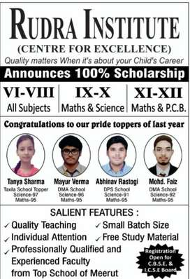Require Science Teacher for 9 & 10 Coaching at Kanker Khera Meerut