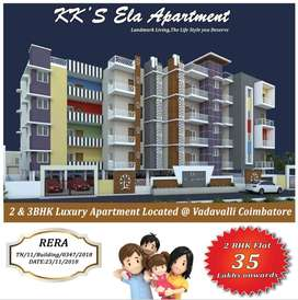 2BHK Beautiful Semi Furnished Apartment for Sales at Vadavalli