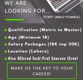 Jobs available for students male and female