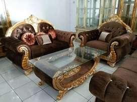 sofa tamu jati solid