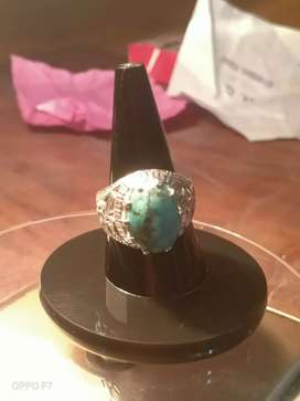 Silver Ring With Feroza