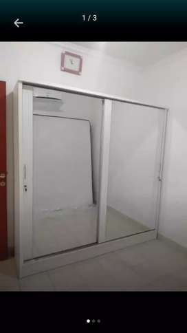 Lemari pakaian pintu 2 sleding jumbo Full kaca cermin