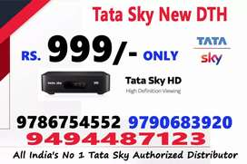 Monsoon sale in tata sky HD connection with comfortable price for 999