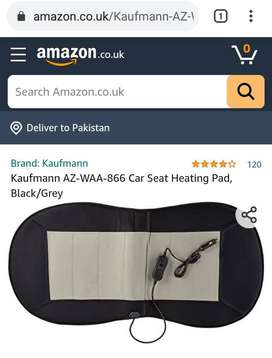 Imported Kaufmann Car Seat Heating Pad, Black/Grey Pair 12v massager