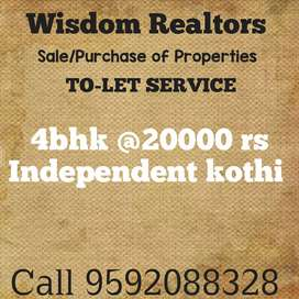Independent kothi at 20000 rs