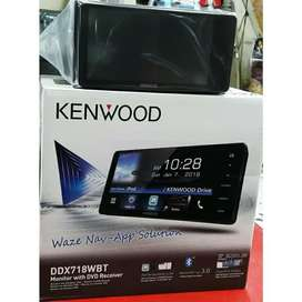 KENWOOD DDX-718 WBT Head Unit Double Din Audio Mobil | FAJAR MOBIL