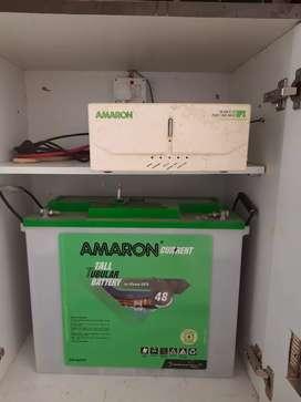 Amaron Inverter 880 VA and Amaron Battery 150 AH