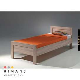 Single Bed With Side Table - Contact on WhatsApp