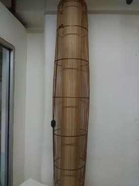 Lampu minimalis dari bambu