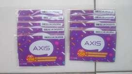 Kartu Perdana Axis Segel Nomer Seri Tahun