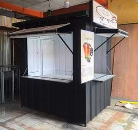 Booth container booth dagang booth jualan booth counter booth minuman