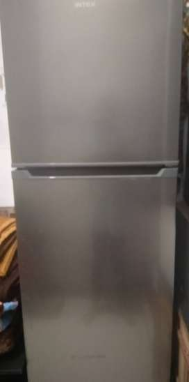 1.5yrs used, new good working condition Double door fridge. (INTEX)